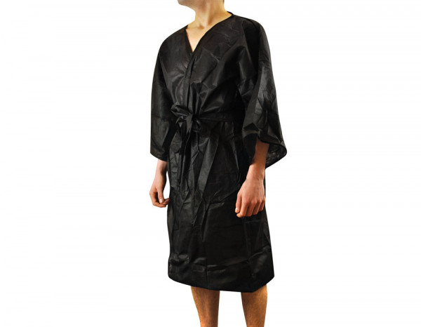 Beauty Essentials disposable robe, black