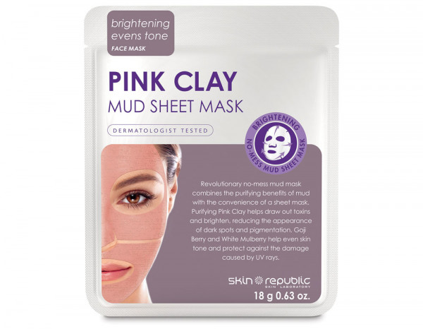 Skin Republic pink clay mud mask