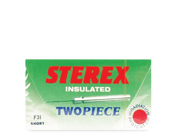 Sterex needles insulated two piece F4I short (50)