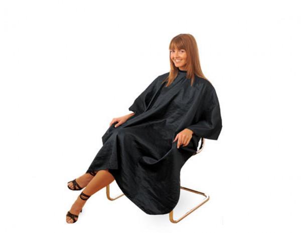 Hair Tools gown unisex black hook fastening