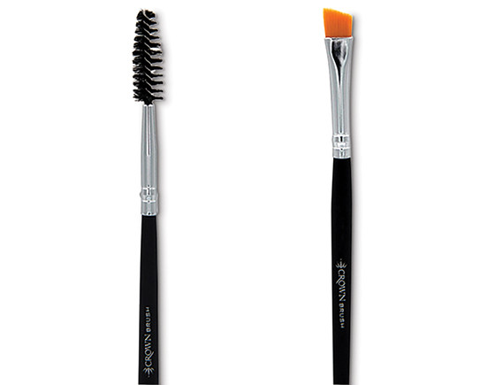 Crownbrush C158 angle liner/spoolie brush