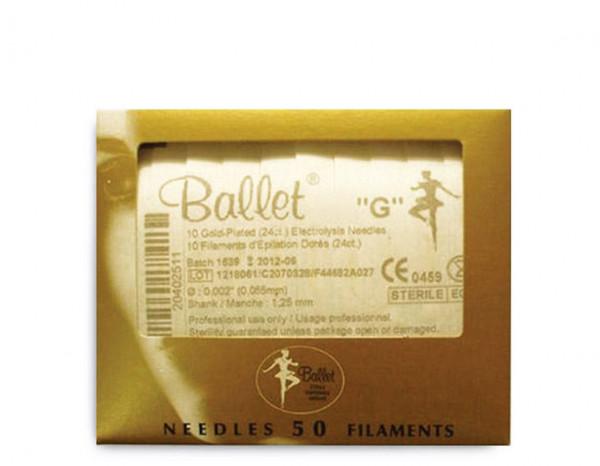 Ballet needles gold .005 (50)