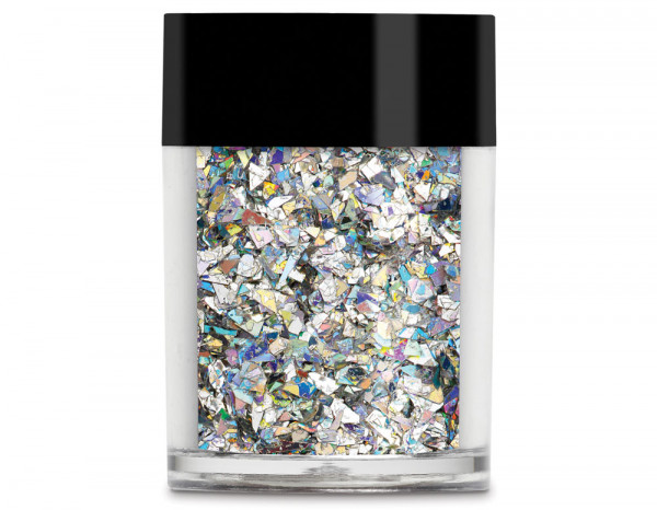 Lecente glitter holographic 8g, Silver Crushed Ice