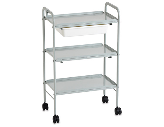 Esthetix slimline trolley, grey
