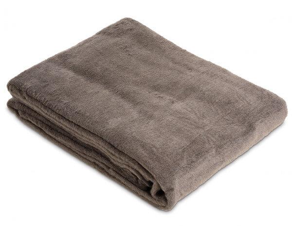 Fleecy blanket, slate grey
