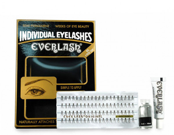 Everlash individual lashes short brown with glue