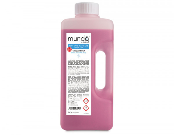 Mundo foot spa and waterline disinfectant 2L