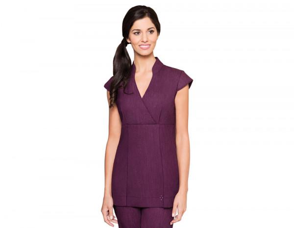 Nicole tunic linen look, purple size 24