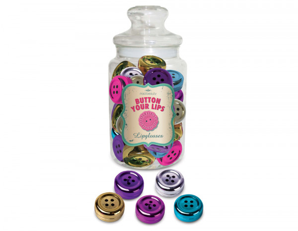 Button lip balm display jar (25)