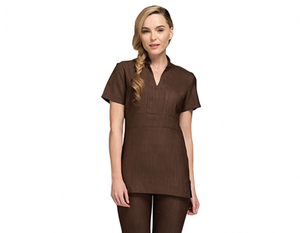 Nicole tunic linen look, brown size 18