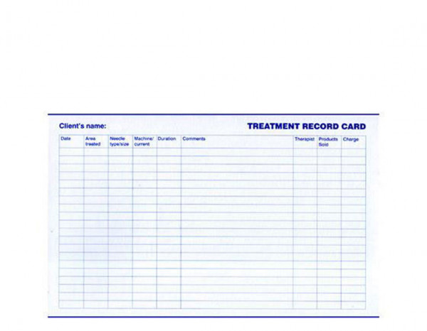 Sterex treatment record cards (25)