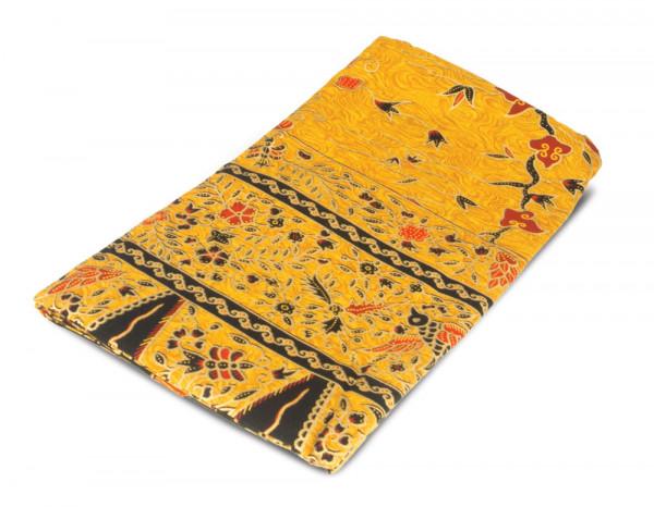 Batik sarong yellow bird design