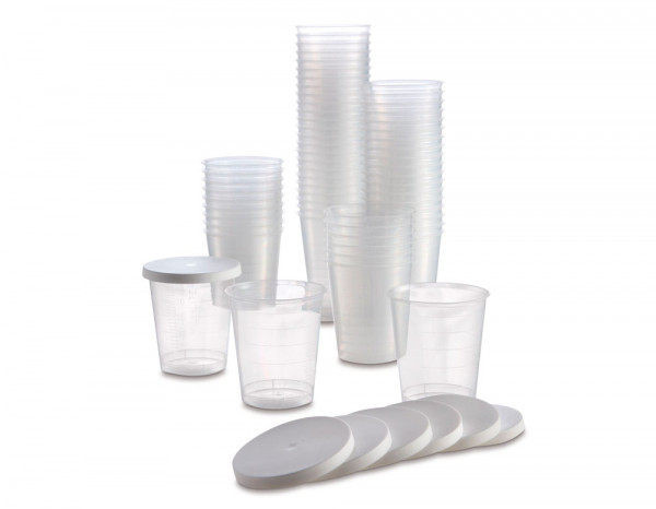 Disposable cups with lids 30ml (90)