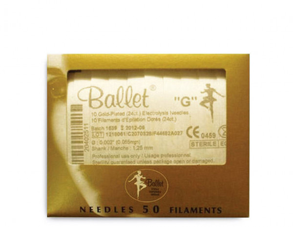 Ballet needles gold .004 (50)