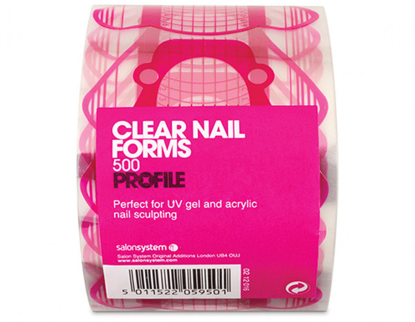 Gellux nail forms, clear (500)