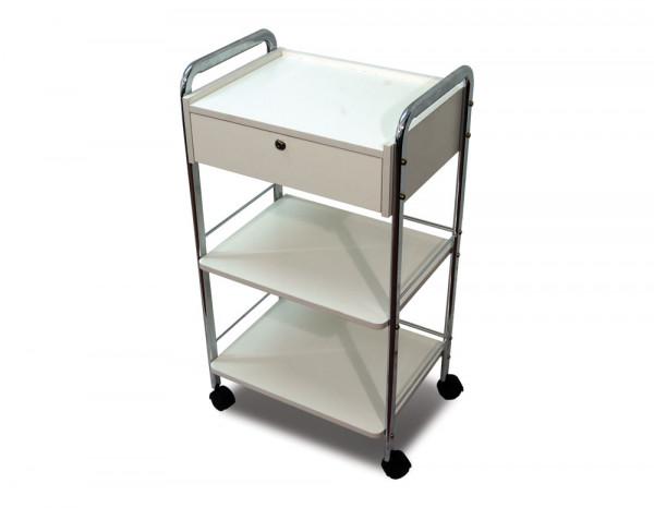 Three tier lockable trolley