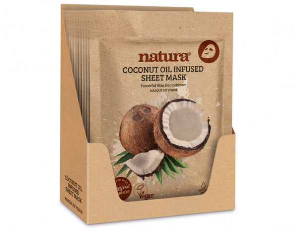 natura coconut oil infused mask display (12)