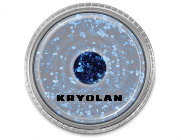 Polyester large particle glitter 4g, navy blue