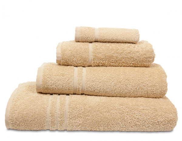 Comfy towelling face cloth, beige