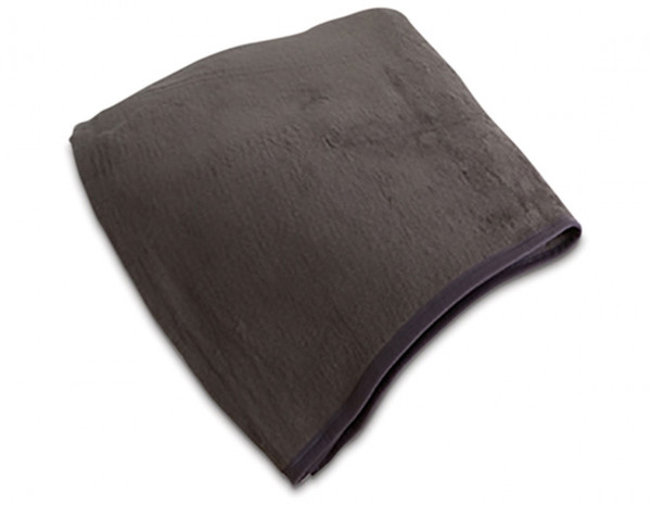 Fleecy blanket, slate grey