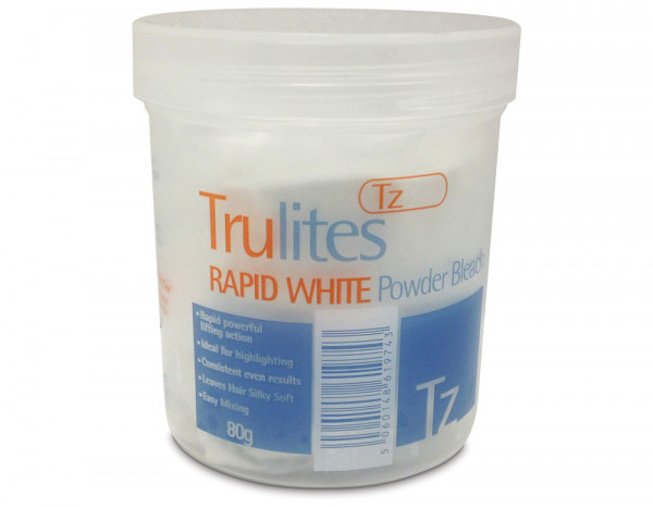 Trulites dust free powder bleach, white 80g