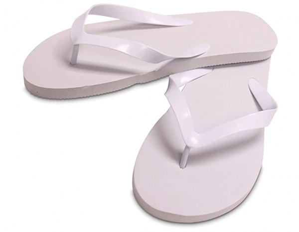 Flip flops rubber, XL white (10-12)