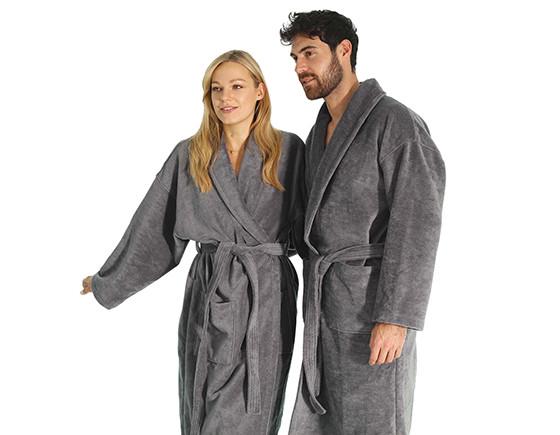 Supreme bathrobe extra large, pebble