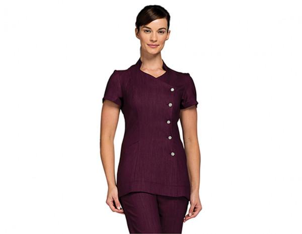 Narrow leg trousers linen look, purple size 12