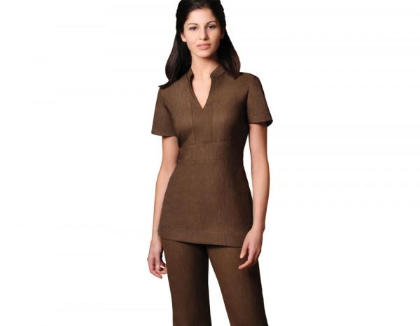 Cara tunic linen look, brown size 22