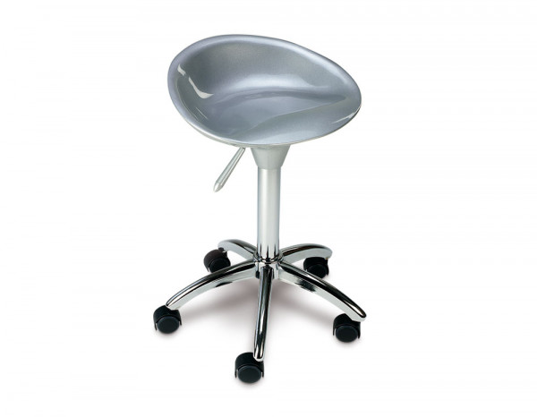 Space stool silver
