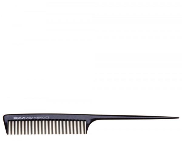 Denman DC05 carbon tail comb, black