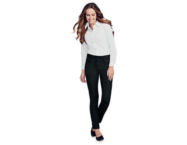 Ladies slim leg twill trouser size 14, black