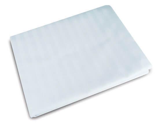 Majestic percale single flat sheet, white