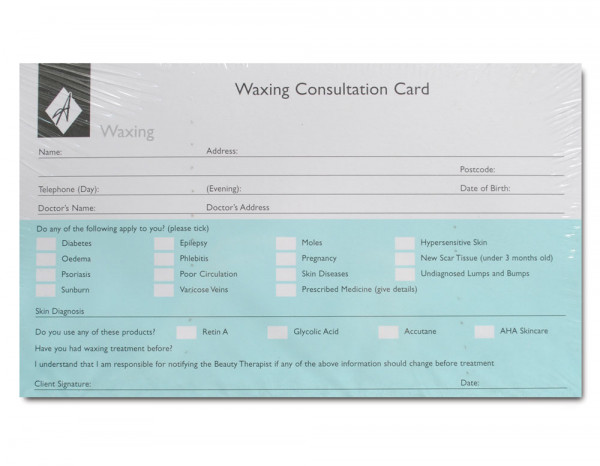 Agenda record cards, waxing (100)