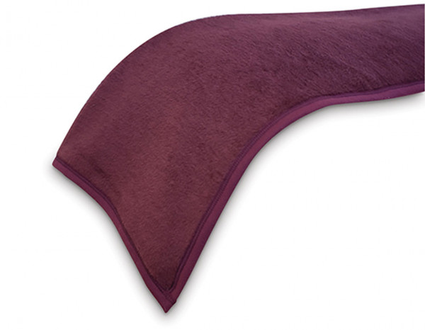 Fleecy blanket, aubergine
