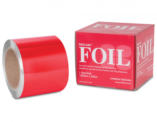 Procare foil, red 100mm x 225m