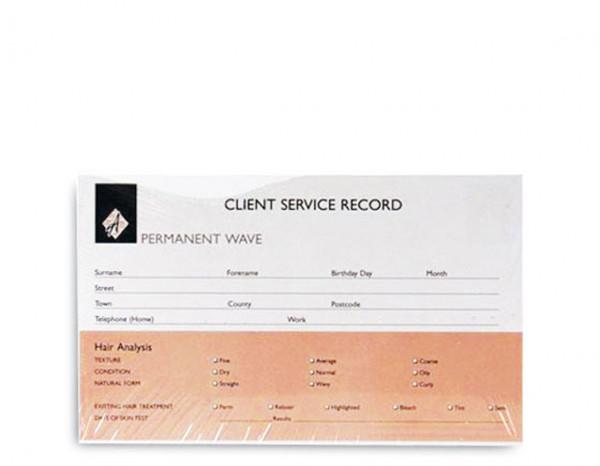 Agenda record cards, perming (100)