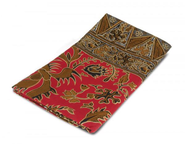 Batik sarong bird motif, red