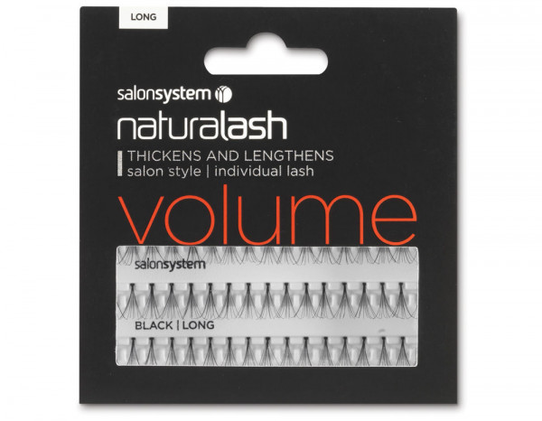 Salon System volume long, black