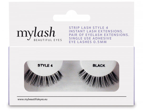 Mylash strip lashes style 4, black