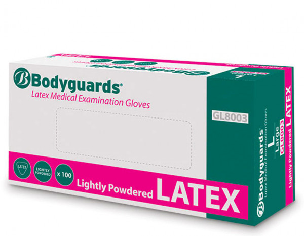 Latex gloves large (100)