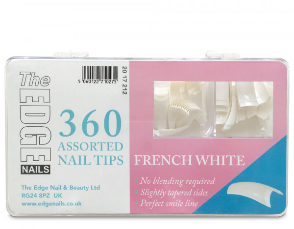 The Edge french white tips, assorted (360)