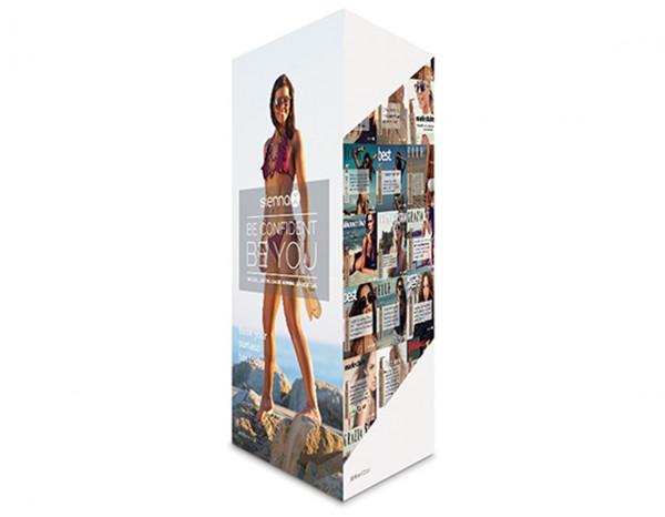 Sienna X 3 sided shelf talker