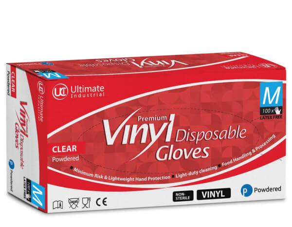 Vinyl gloves, medium (100)