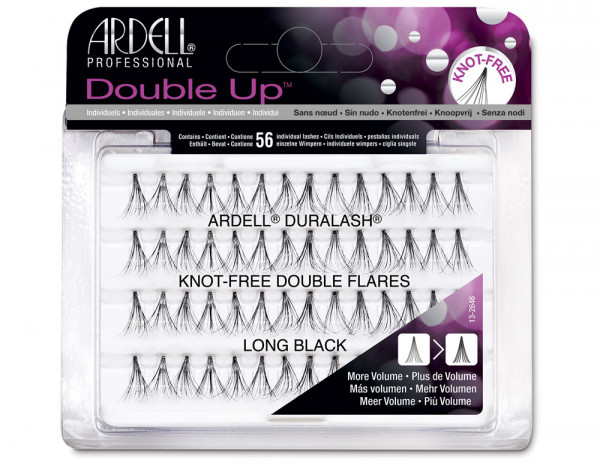 8f731f9a100 Ardell double individuals knot-free black, long | Individual lashes ...