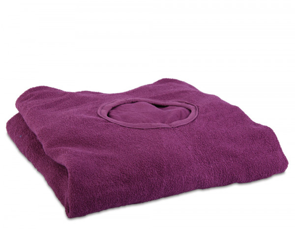 Aztex couch cover with facehole, aubergine