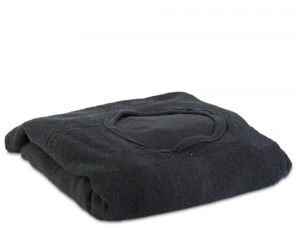 Aztex couch cover with facehole, black