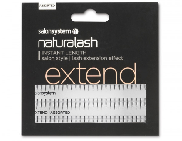 Salon System extend assorted lengths, black