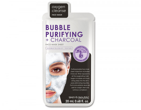 Skin Republic bubble purifying and charcoal mask