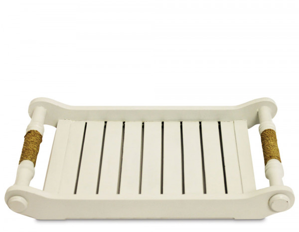 Colonial tray, white